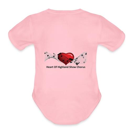 Lg transparent logo on back HOH Show Chorus - Organic Short Sleeve Baby Bodysuit