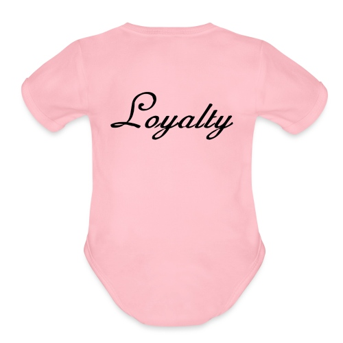 Loyalty Brand Items - Black Color - Organic Short Sleeve Baby Bodysuit