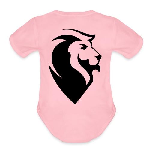 JUDAH Logo - Organic Short Sleeve Baby Bodysuit
