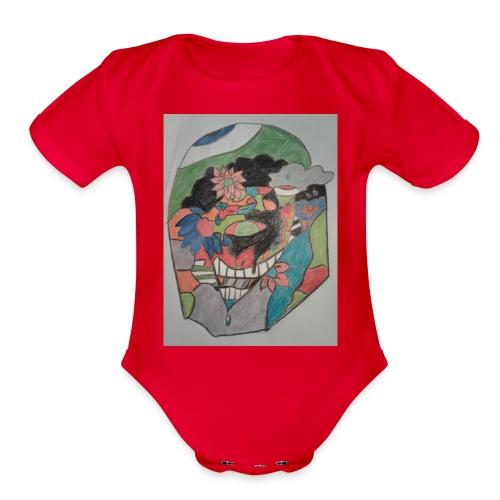 The judging eyes - Organic Short Sleeve Baby Bodysuit
