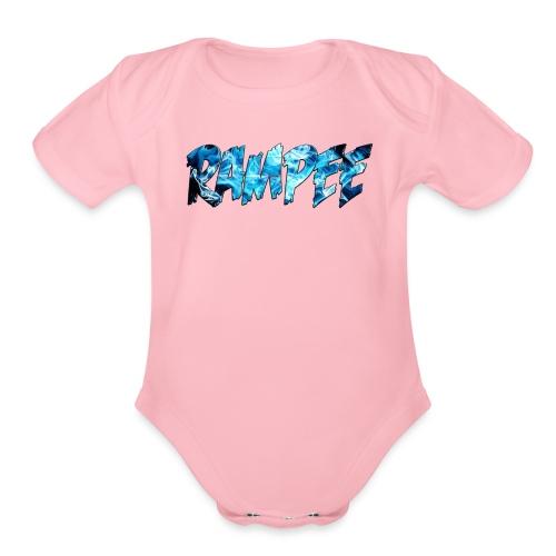 Blue Ice - Organic Short Sleeve Baby Bodysuit
