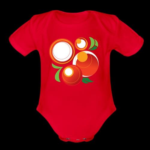 Abstract Oranges - Organic Short Sleeve Baby Bodysuit