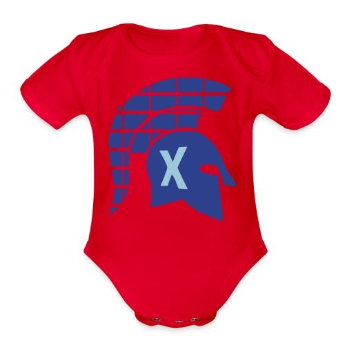 Spartans Tech Blue - Organic Short Sleeve Baby Bodysuit