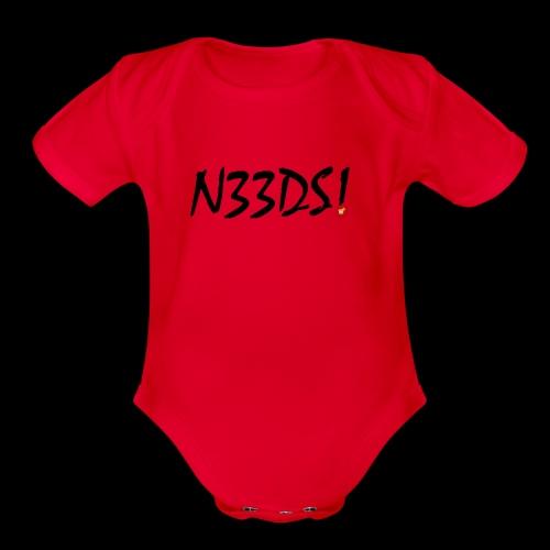 Fr33Bread N33DS Merchandise - Organic Short Sleeve Baby Bodysuit