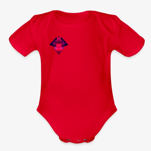 Manoley Tech logo - Organic Short Sleeve Baby Bodysuit