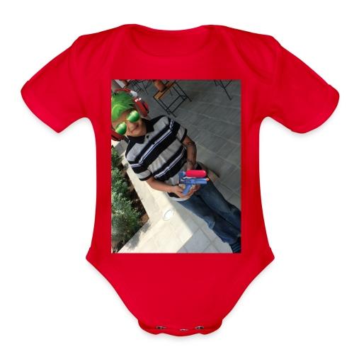 fernando m - Organic Short Sleeve Baby Bodysuit