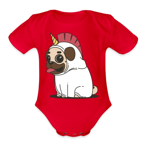 Pug Love - Organic Short Sleeve Baby Bodysuit
