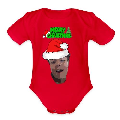 Merry Christmas Merch! - Organic Short Sleeve Baby Bodysuit