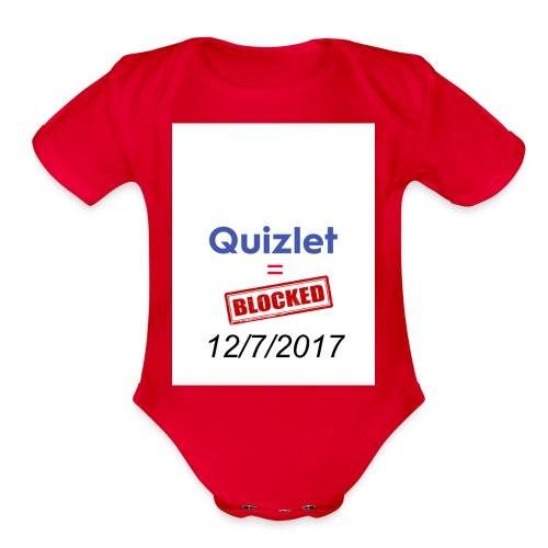 Quizlet Blocked - Organic Short Sleeve Baby Bodysuit