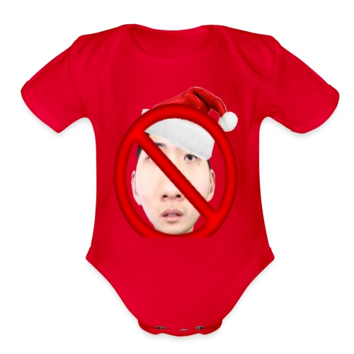 Christmas Ricegum Not Allowed - Organic Short Sleeve Baby Bodysuit