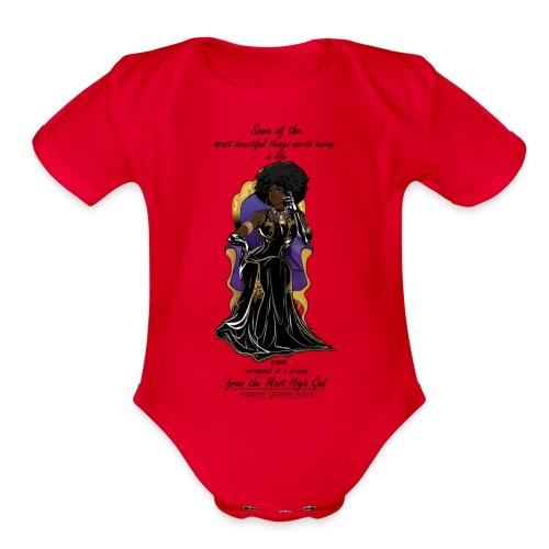 Hebrew queen readytoprint - Organic Short Sleeve Baby Bodysuit