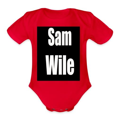 samlogo - Organic Short Sleeve Baby Bodysuit