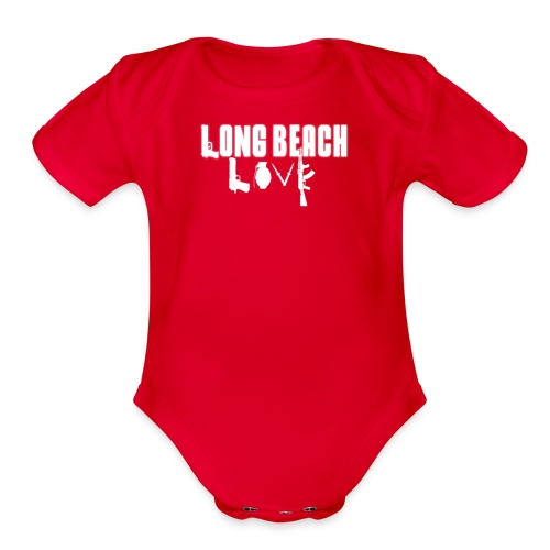 Long Beach Love - Organic Short Sleeve Baby Bodysuit