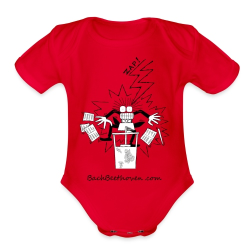Conductor - Organic Short Sleeve Baby Bodysuit