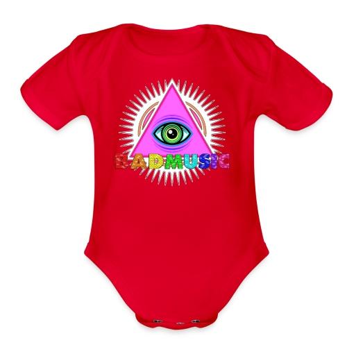 Illuminati BadMusic - Organic Short Sleeve Baby Bodysuit