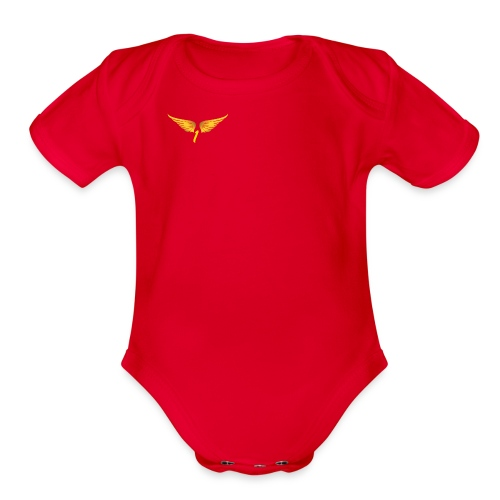 Gold1LIFENUMBER - Organic Short Sleeve Baby Bodysuit