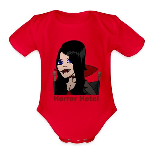 Horror Hotel - Lamia Animated - Organic Short Sleeve Baby Bodysuit