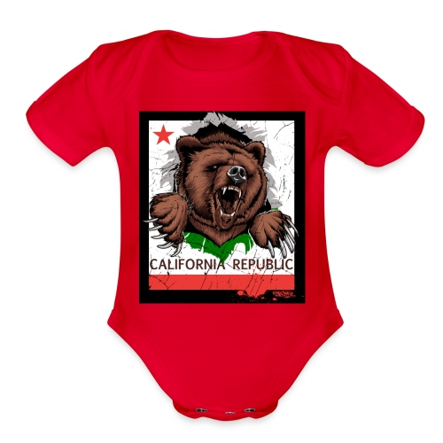 California Bear - Organic Short Sleeve Baby Bodysuit