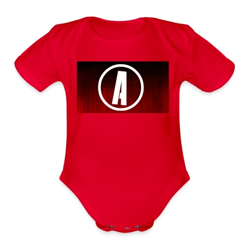 AlphaApexTV Logo Merch - Organic Short Sleeve Baby Bodysuit