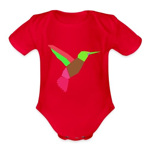 Bird art work - Organic Short Sleeve Baby Bodysuit