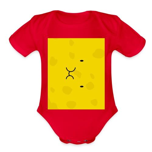 Spongy Case 5x4 - Organic Short Sleeve Baby Bodysuit