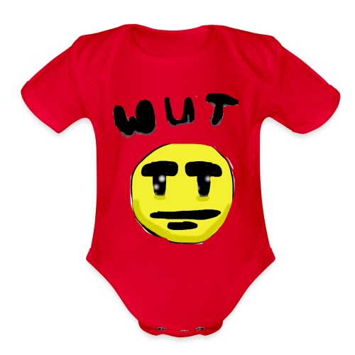 Wut Face - Organic Short Sleeve Baby Bodysuit