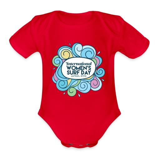 International Womens Surf Day - Organic Short Sleeve Baby Bodysuit