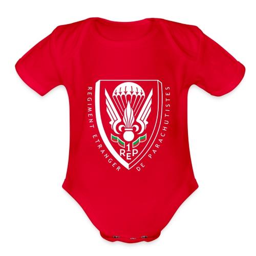 1er REP - Regiment - Badge - Organic Short Sleeve Baby Bodysuit