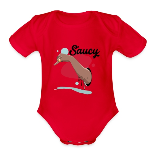 saucy - Organic Short Sleeve Baby Bodysuit