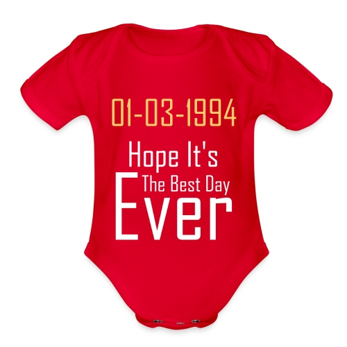 01/03/1994 justin b birthday - Organic Short Sleeve Baby Bodysuit