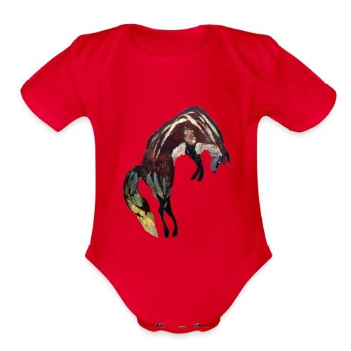 Ghost Fox - Organic Short Sleeve Baby Bodysuit