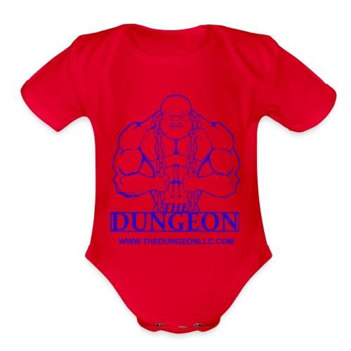 Dungeon Blue - Organic Short Sleeve Baby Bodysuit