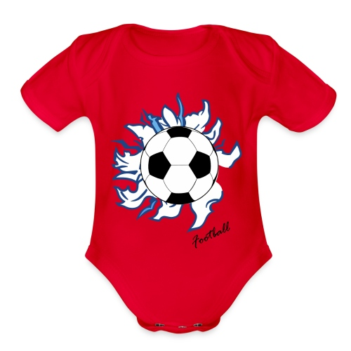 football - Organic Short Sleeve Baby Bodysuit