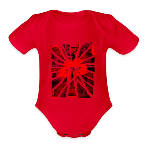 All Roads Lead To A Kiss - Organic Short Sleeve Baby Bodysuit