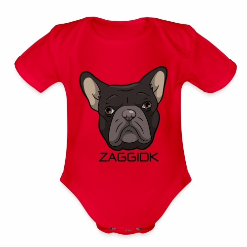 Bastian Face ZaggiDK - Organic Short Sleeve Baby Bodysuit