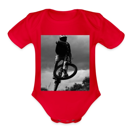 DOWNHILL. - Organic Short Sleeve Baby Bodysuit