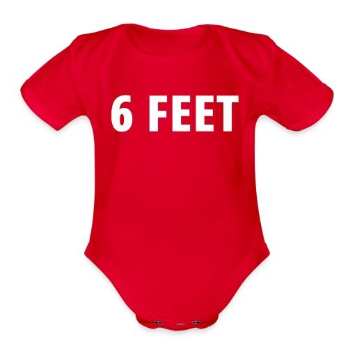 6 FEET - Organic Short Sleeve Baby Bodysuit