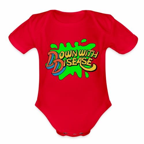 downwithdisease - Organic Short Sleeve Baby Bodysuit