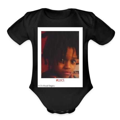 Hi I'm Ronald Seegers Collection-#LOCS - Organic Short Sleeve Baby Bodysuit
