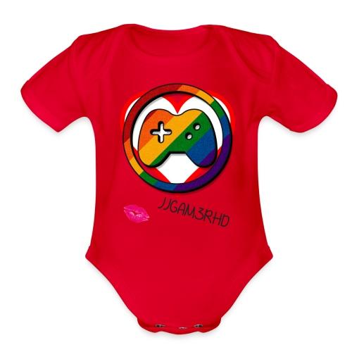 JJGAM3RHD Premium Valentines - Organic Short Sleeve Baby Bodysuit