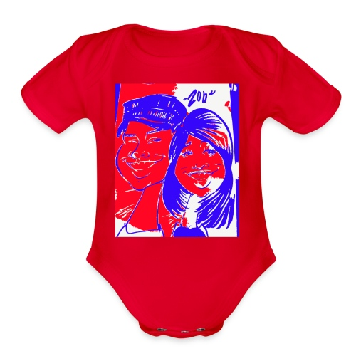 Happy Couple by Zon - Organic Short Sleeve Baby Bodysuit