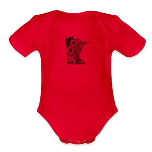 MINNESOTA MN WILDFLOWER - Organic Short Sleeve Baby Bodysuit