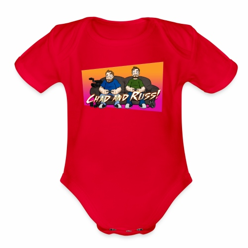 Chad and Russ! - Organic Short Sleeve Baby Bodysuit