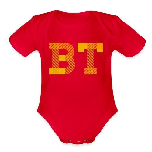 BeakerTeck Logo - Organic Short Sleeve Baby Bodysuit