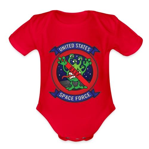 United States Space Force U.S.S.F. - Organic Short Sleeve Baby Bodysuit