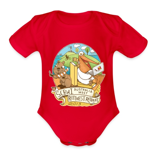 SCBWI Australia West 2019 Rottnest Retreat - Organic Short Sleeve Baby Bodysuit