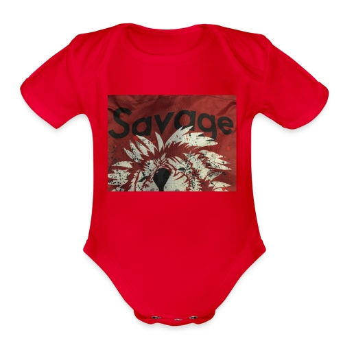 Savage merch 🔥🔥 - Organic Short Sleeve Baby Bodysuit
