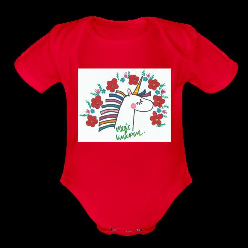 Magic Unicorn - Organic Short Sleeve Baby Bodysuit