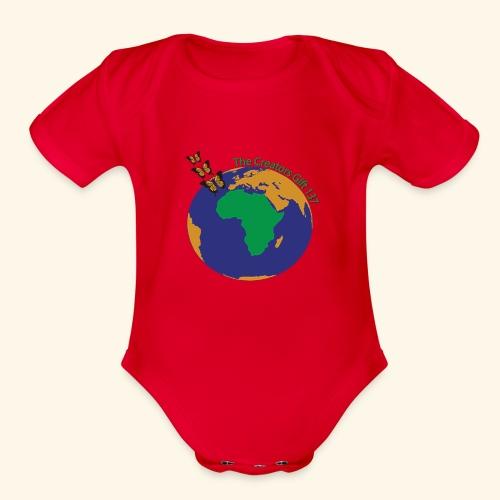 The CG137 logo - Organic Short Sleeve Baby Bodysuit