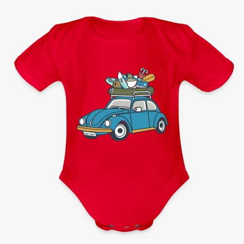 Gone Fishin' - Organic Short Sleeve Baby Bodysuit
